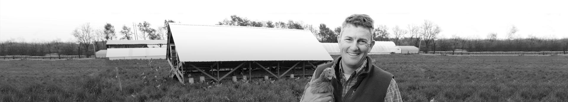 Todd of Clark Farms in Lexington, Kentucky. Trusted free-run chicken supplier.