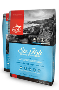 ORIJEN Six Fish Biologically Appropriate Dog Food Bag
